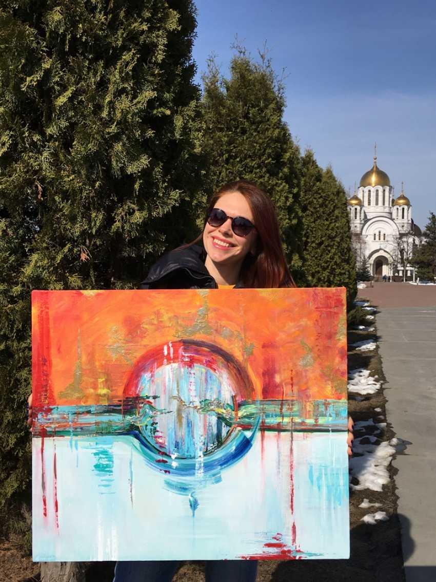 Mary Romanova. THE BIRTH OF THE WORLD acrylic abstraction - photo 3