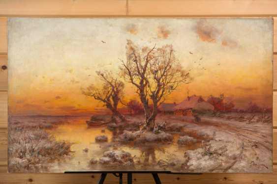 Sunset on the lake - photo 1
