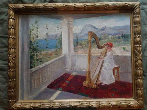 Lady with harp - photo 1