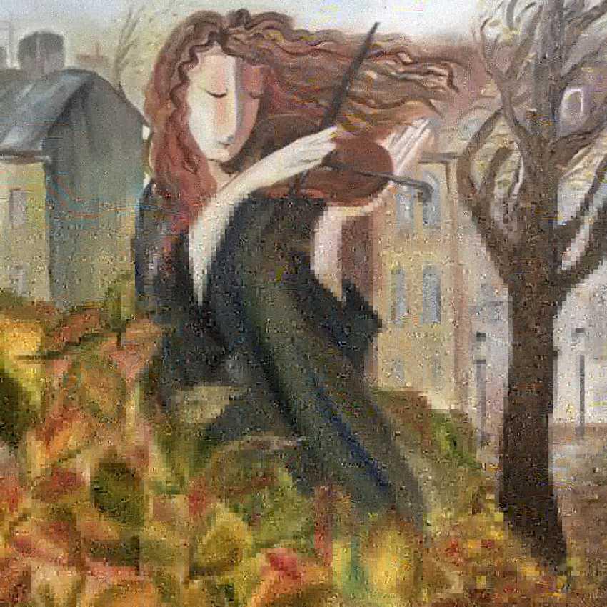 Katarina Maynina. Violinist and Autumn - photo 1