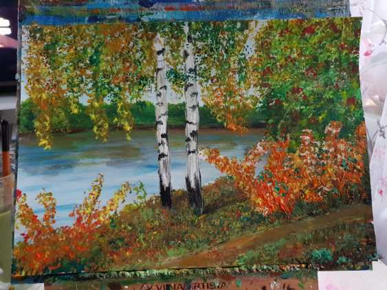 Natasha Matishak. Birch trees. Fall - photo 1