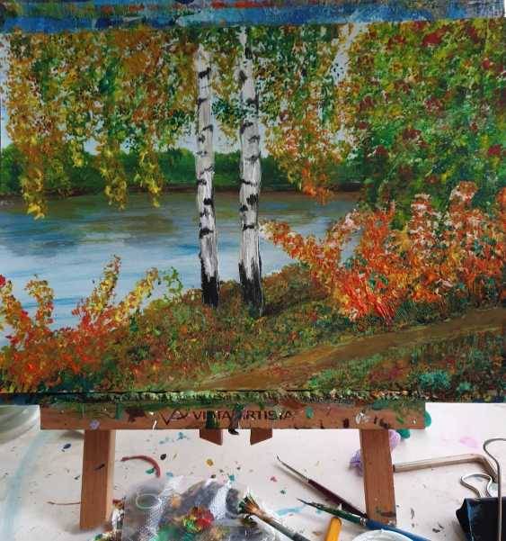 Natasha Matishak. Birch trees. Fall - photo 2
