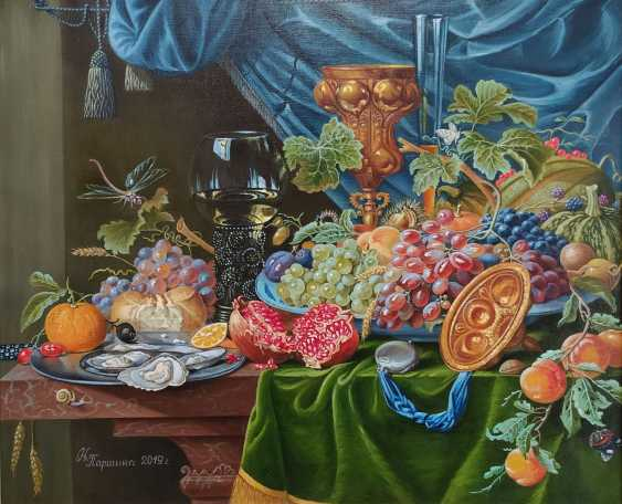 """Natalya Parshina. """"Still life with fruit, goblet and oysters"""" - photo 1"""