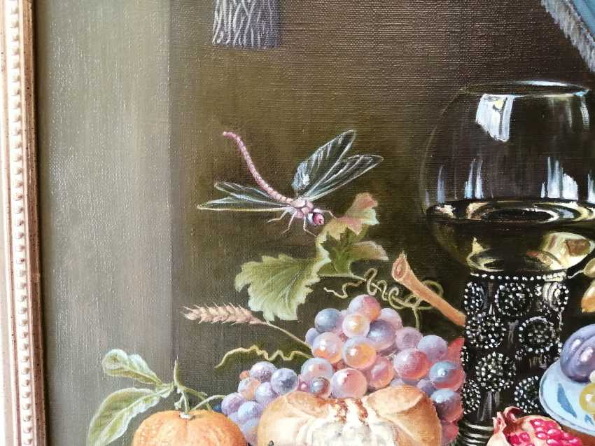 """Natalya Parshina. """"Still life with fruit, goblet and oysters"""" - photo 3"""