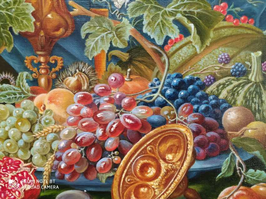 """Natalya Parshina. """"Still life with fruit, goblet and oysters"""" - photo 4"""
