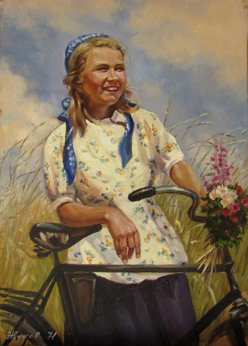 Девушка и велосипед - фото 1