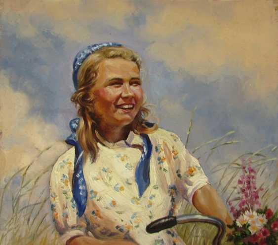 Девушка и велосипед - фото 2