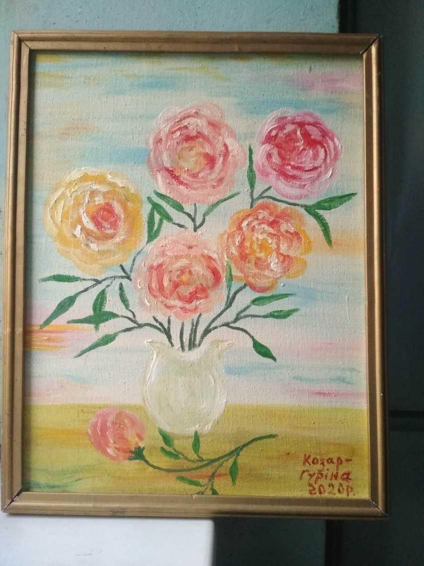 Elena Kozar-Gurina. Peonies flowers in a vase. Peonies flowers in a vase. - photo 1
