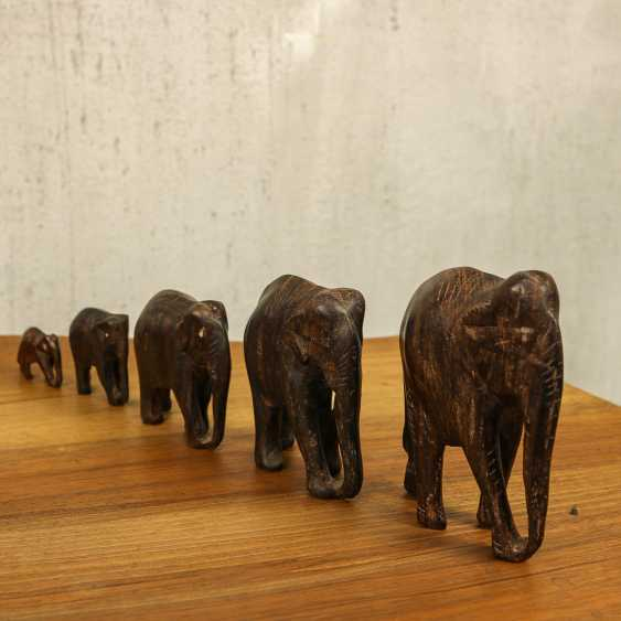 Antique collection of elephants of three types - photo 3