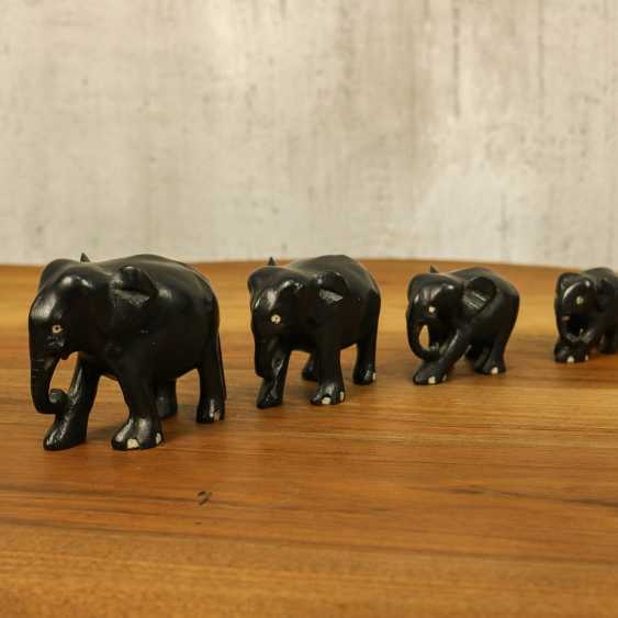 Antique collection of elephants of three types - photo 4