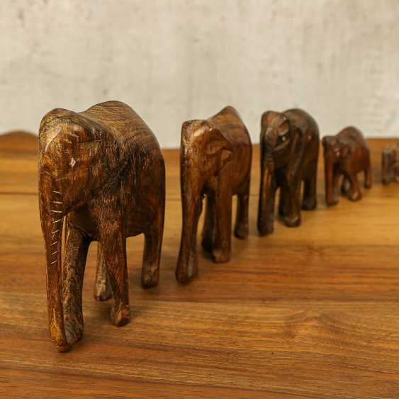 Antique collection of elephants of three types - photo 5
