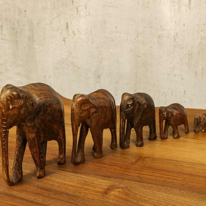 Antique collection of elephants of three types - photo 6