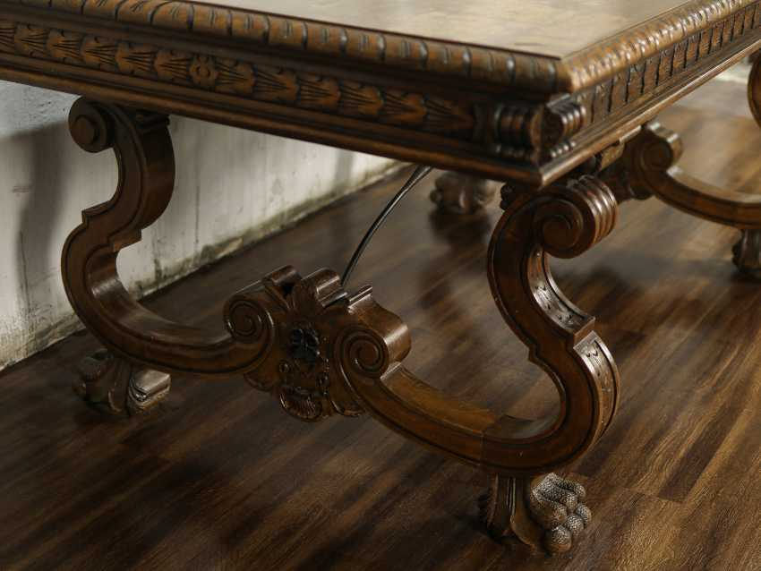 Antique carved dining table - photo 2