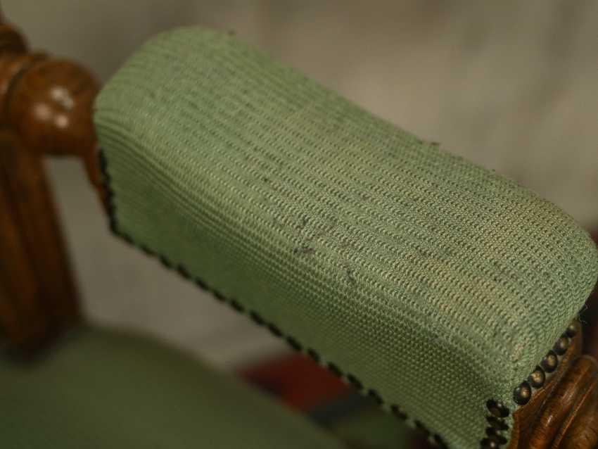 Antiker geschnitzter Sessel - Foto 3