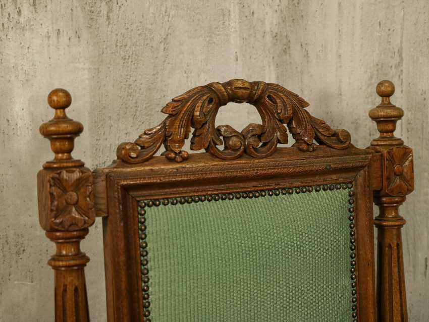 Antiker geschnitzter Sessel - Foto 5