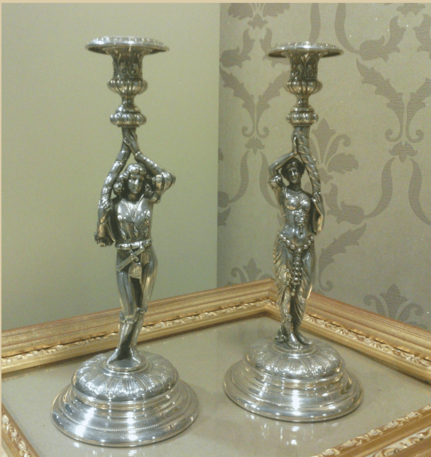 Candlesticks in the form of male and female figures - photo 1