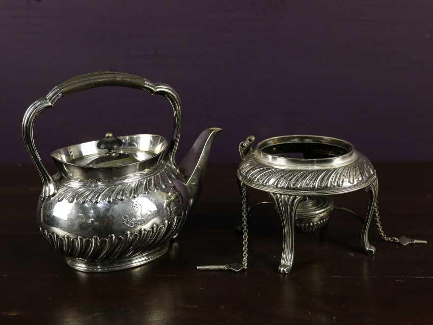 """Antique bouillotte """"Sussex Goldsmith & Co"""" - photo 5"""
