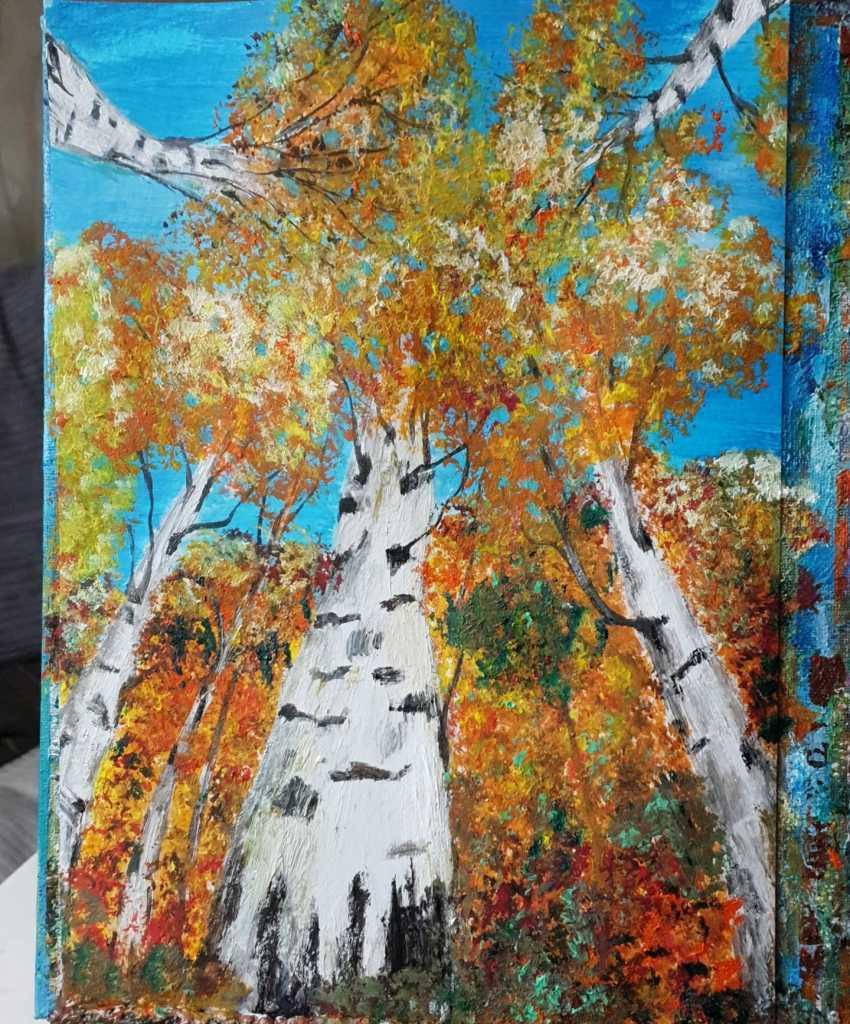 Natasha Matishak. Birch trees. - photo 1