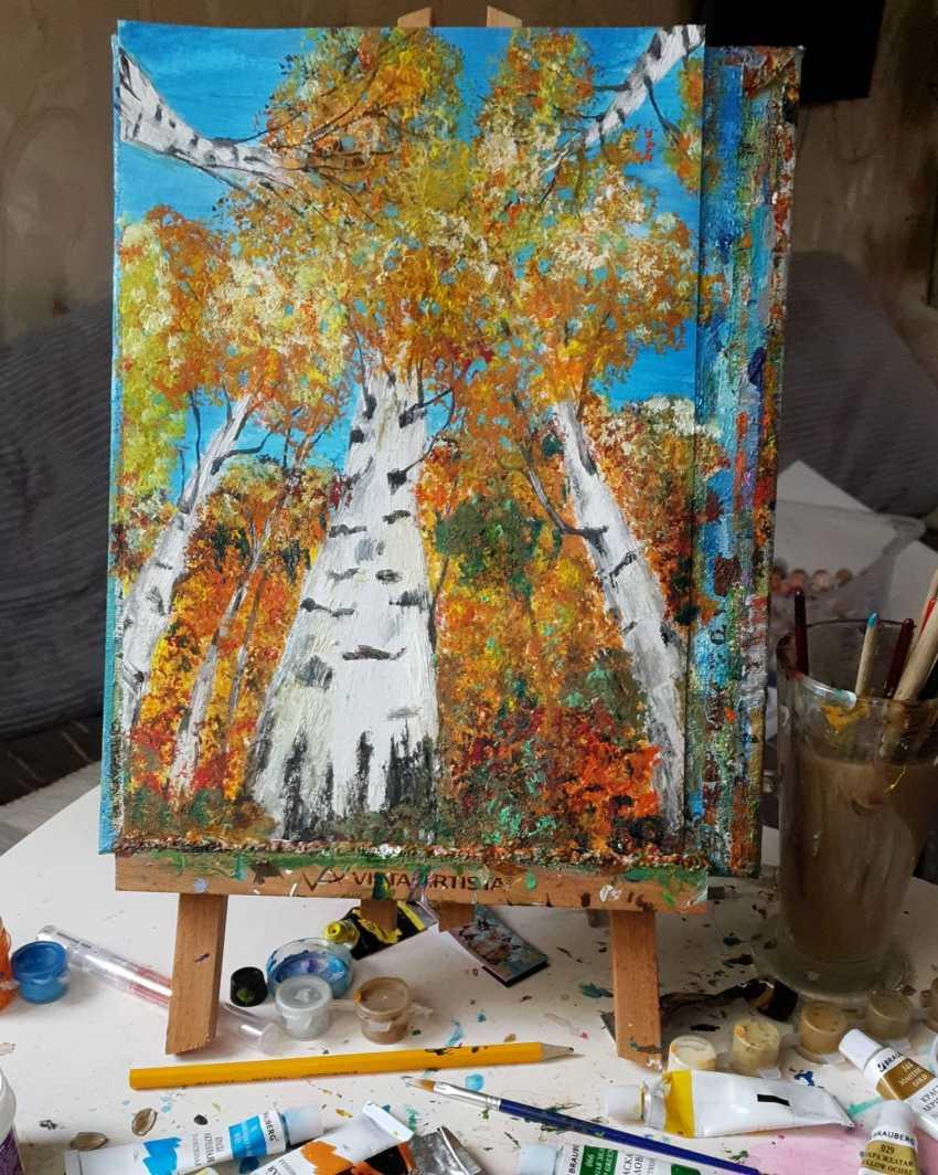 Natasha Matishak. Birch trees. - photo 2