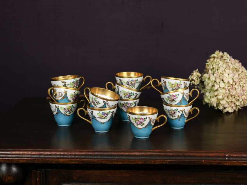 Antique set of 12 coffee cups - photo 1