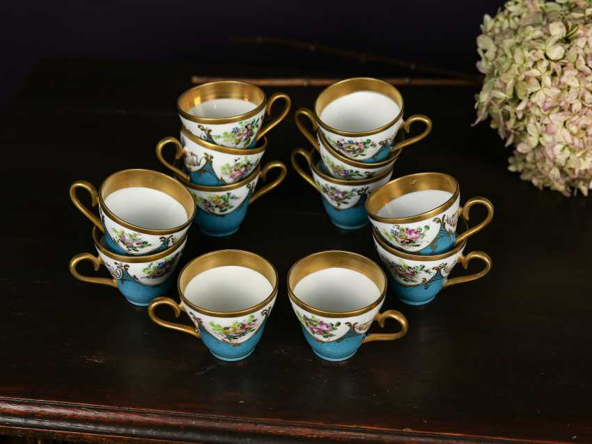 Antique set of 12 coffee cups - photo 2