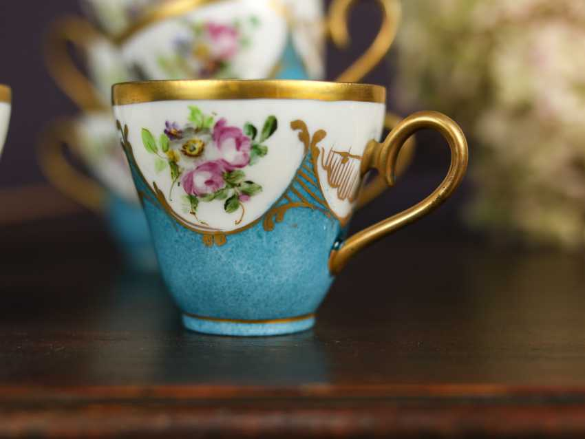 Antique set of 12 coffee cups - photo 3