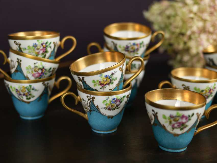 Antique set of 12 coffee cups - photo 5