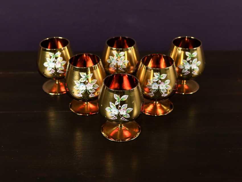 Antique set of 6 cognac glasses - photo 2