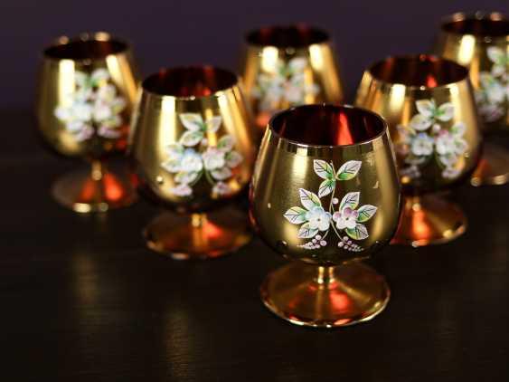 Antique set of 6 cognac glasses - photo 3
