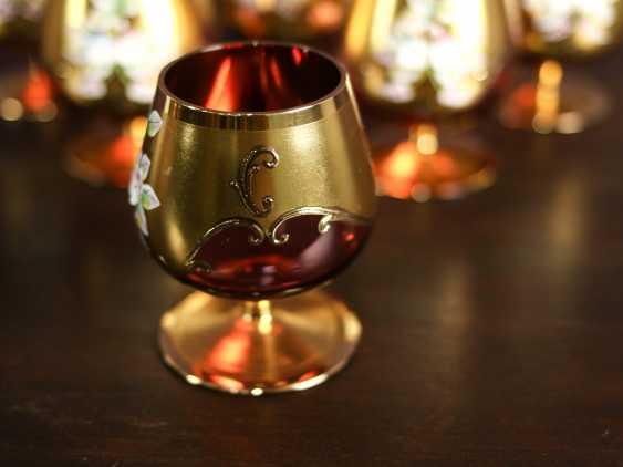 Antique set of 6 cognac glasses - photo 4