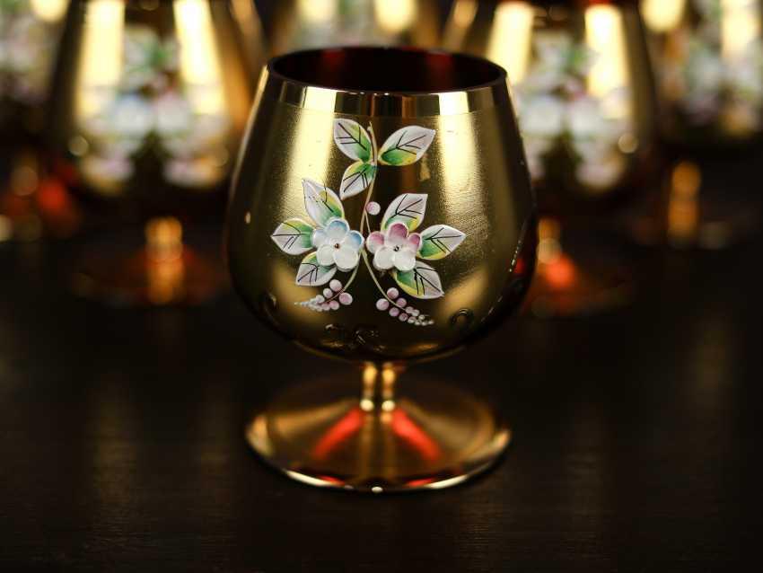 Antique set of 6 cognac glasses - photo 6