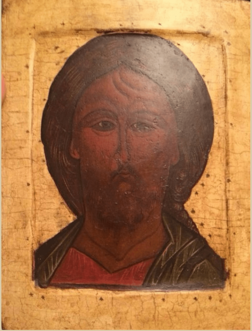 The icon of Christ the Savior 17th century - photo 1