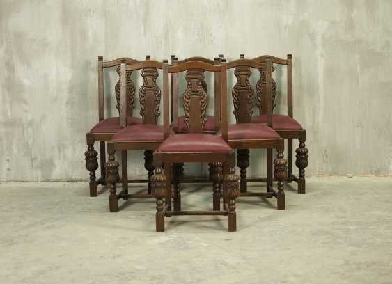 Set of six antique chairs - photo 1