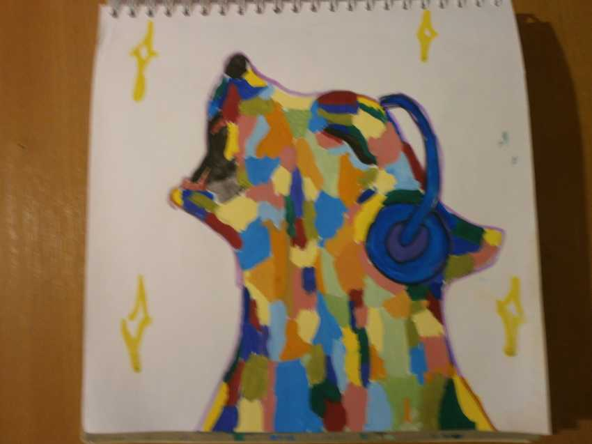 Olga Chernova. Picture. Inexpensive painting. Dogs. Music. Dog talent. - photo 1