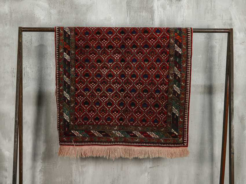 Antique one-sided pile carpet - photo 1