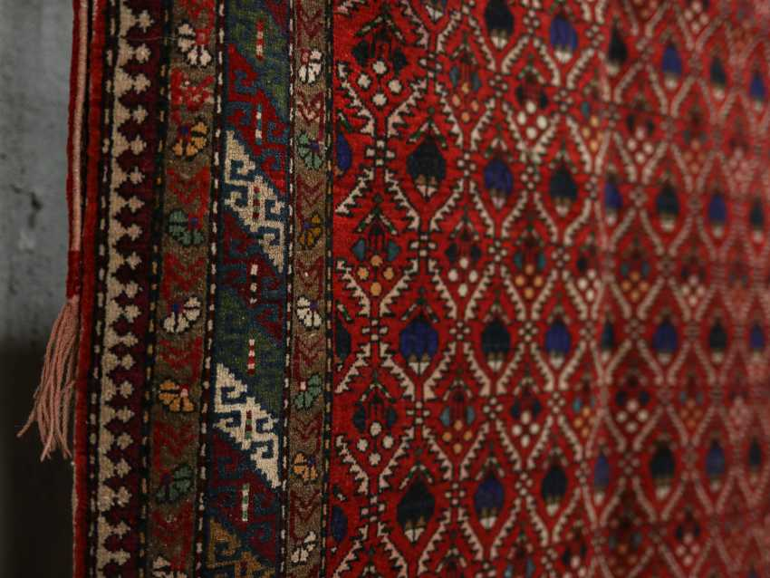 Antique one-sided pile carpet - photo 2