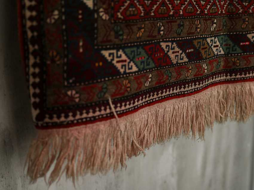 Antique one-sided pile carpet - photo 4