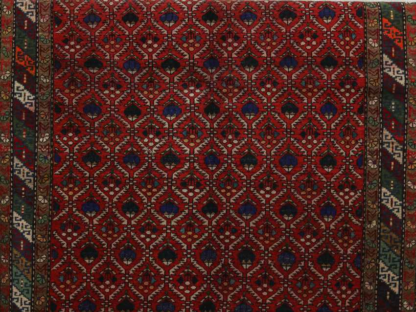 Antique one-sided pile carpet - photo 6
