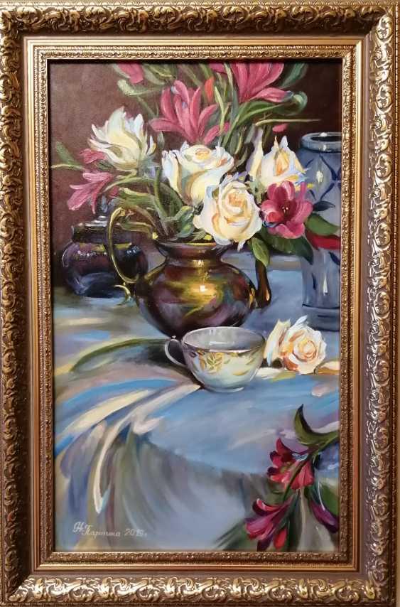 "Natalya Parshina. ""Nature morte avec des roses et une tasse"" - photo 1"