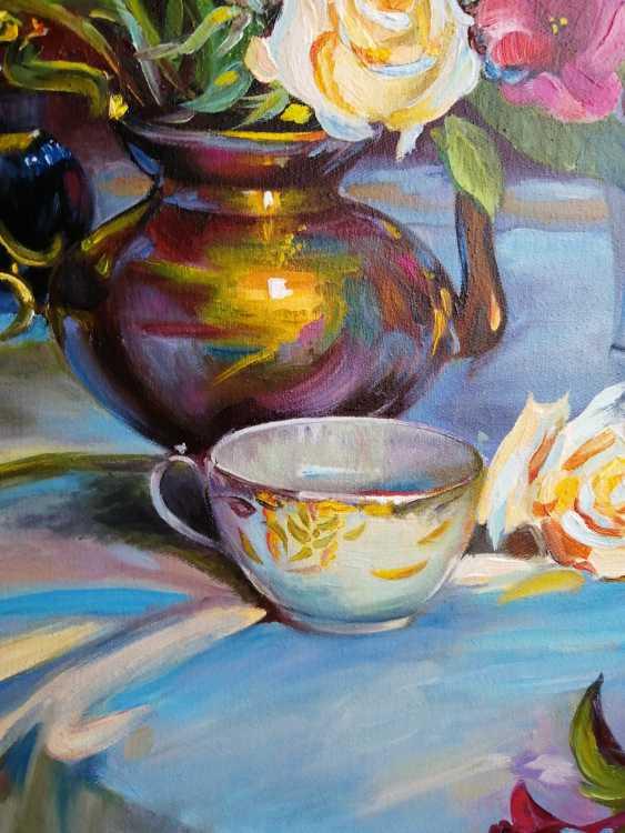 "Natalya Parshina. ""Nature morte avec des roses et une tasse"" - photo 2"