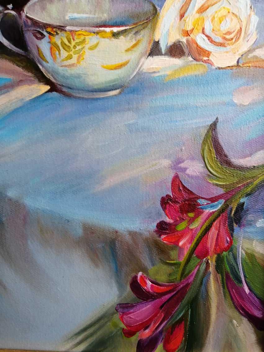 "Natalya Parshina. ""Nature morte avec des roses et une tasse"" - photo 3"