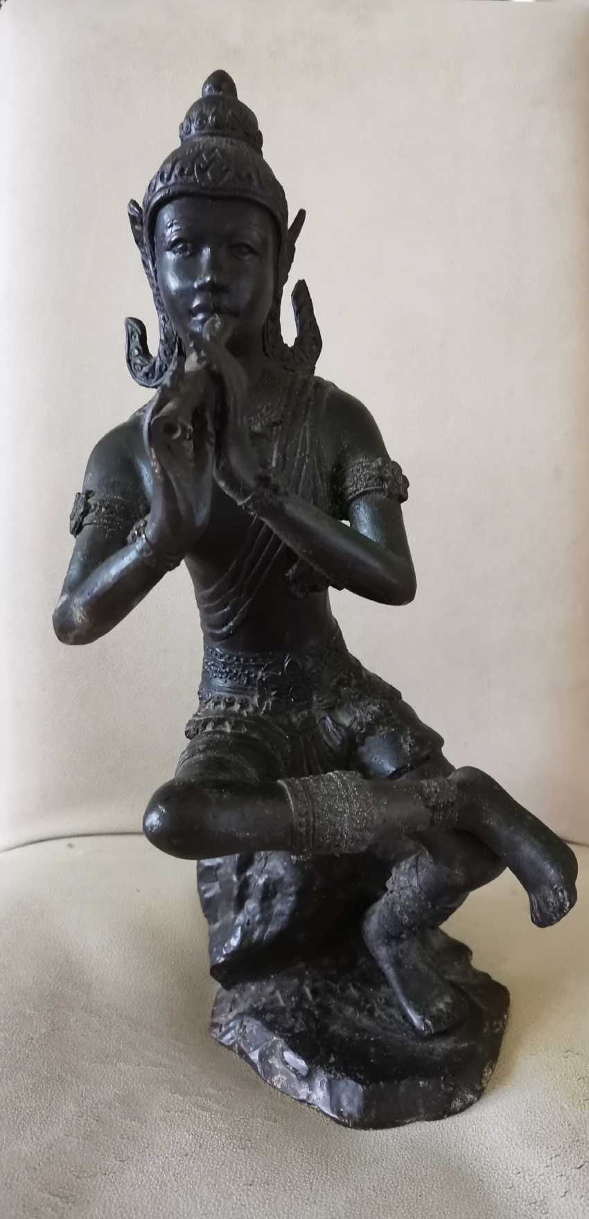Ancient Krishna Statue Indonesia Bronze - photo 1