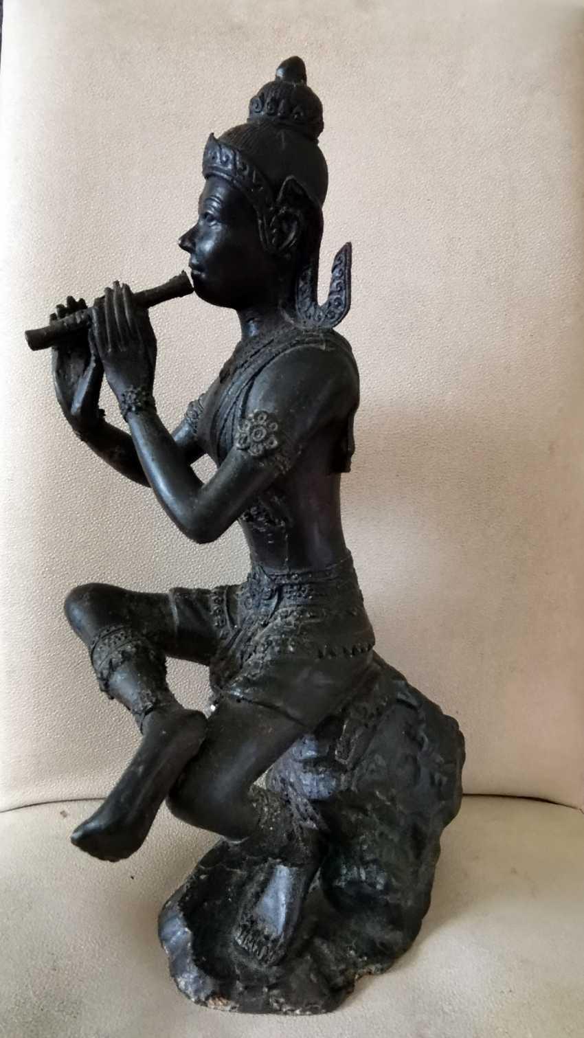Ancient Krishna Statue Indonesia Bronze - photo 3