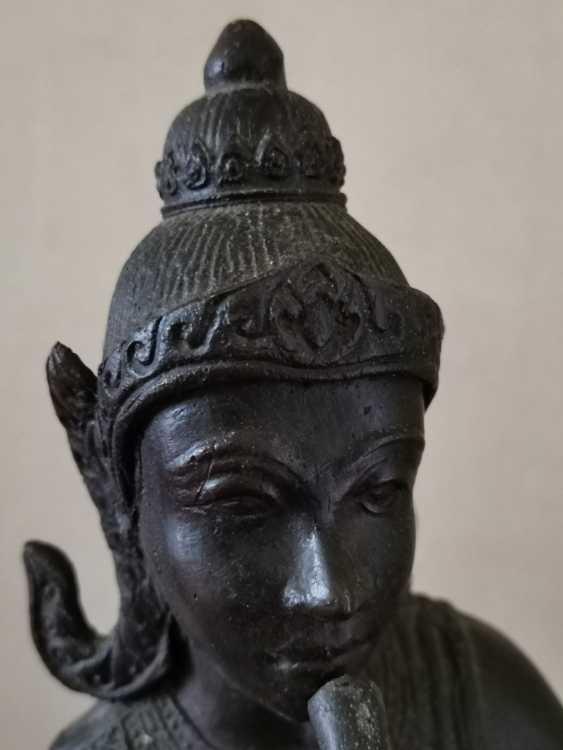 Ancient Krishna Statue Indonesia Bronze - photo 4