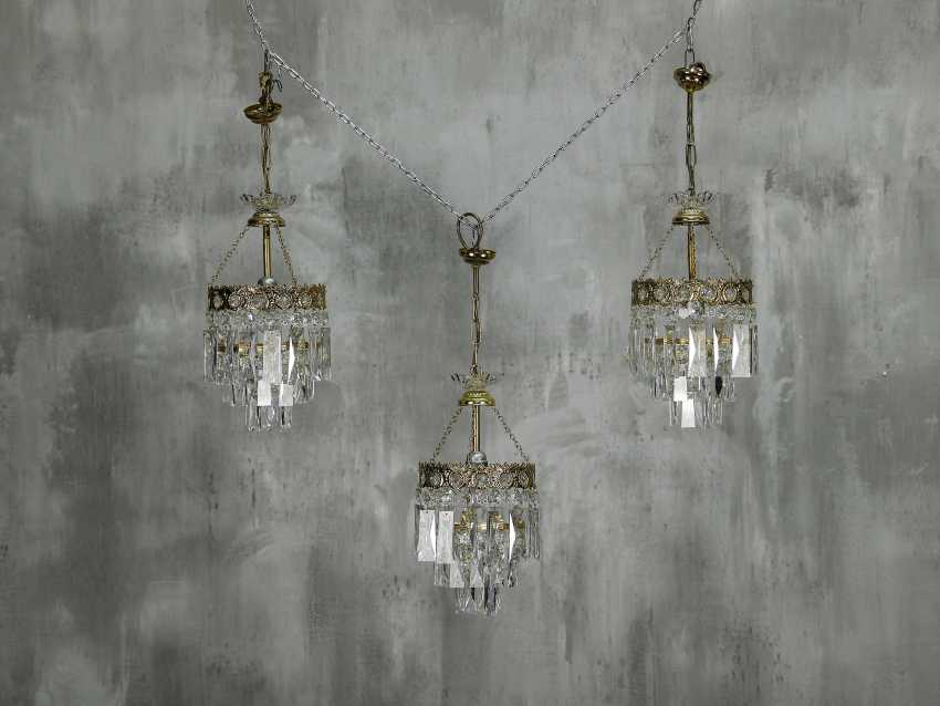 Vintage set of 6 chandeliers - photo 2