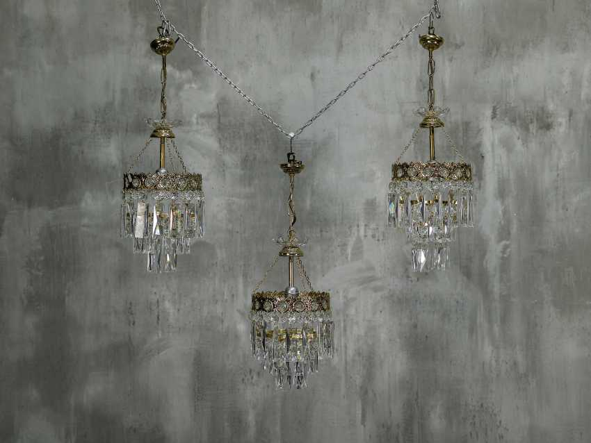 Vintage set of 6 chandeliers - photo 3