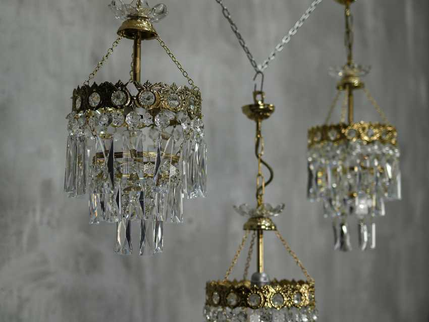 Vintage set of 6 chandeliers - photo 7