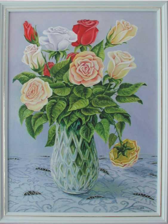 viktor shutka. roses in a vase - photo 1