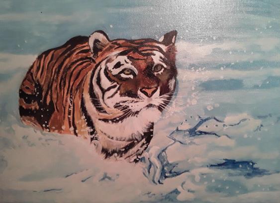 Svetlana Kosobokova. Bathing tiger - photo 1