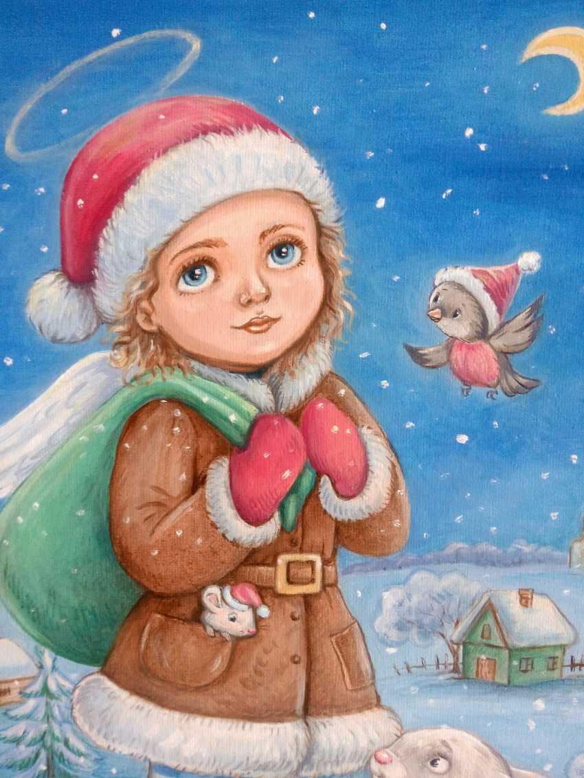 "Irina Nevshupa. painting ""Christmas Angel"" - photo 2"